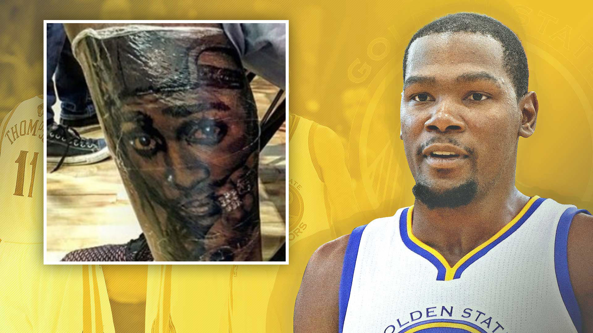 KDurant gets new tattoo of Tupac Shakur