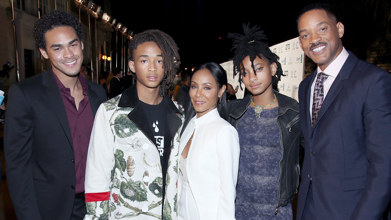 Will Smith and Family at EMA Awards Red Carpet
