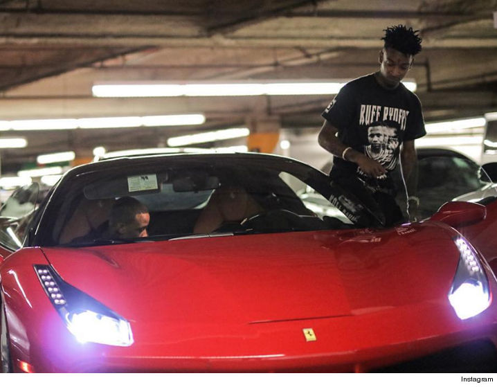 21 Savage Shows off Ferrari That Drake Bought Him as Birthday Gift, Possibly for Signing to OVO