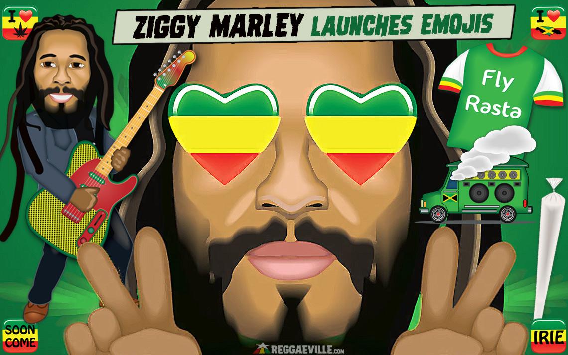 Ziggy Marley Releases Set of Custom Emojis (Rastamojis)