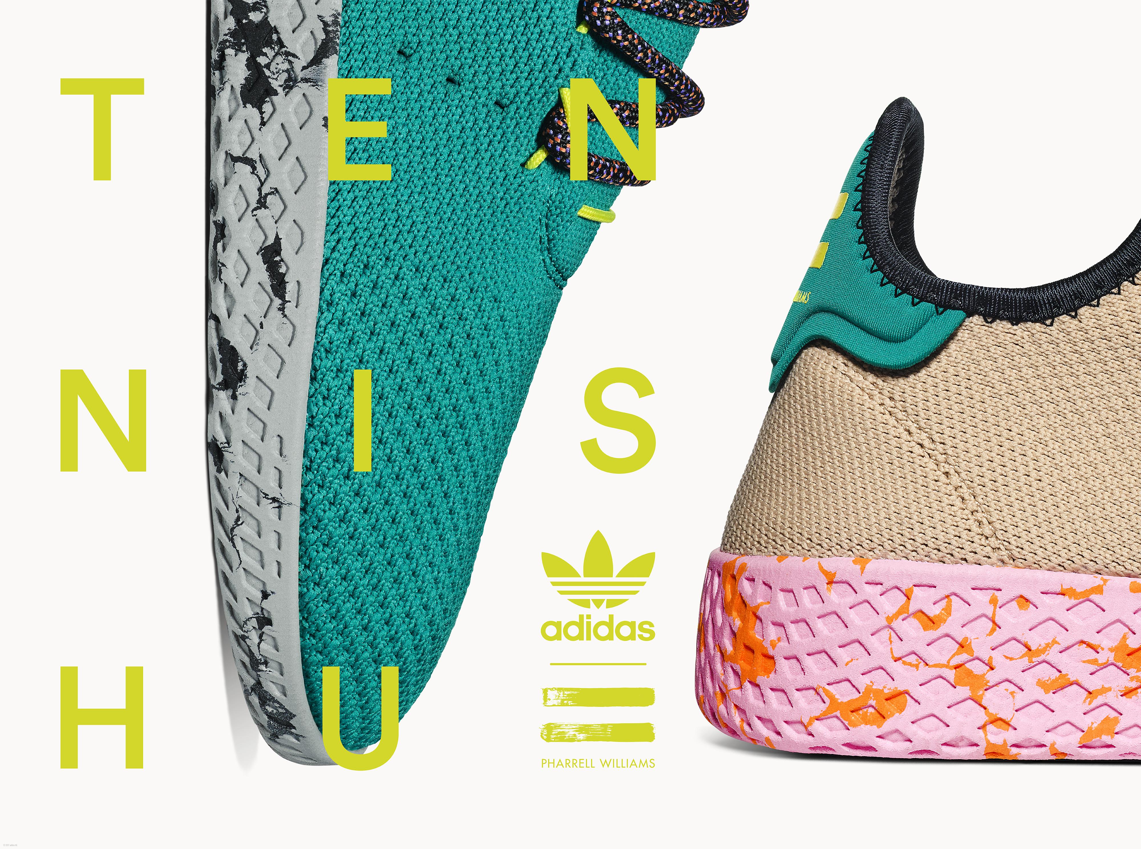 d43b7e8dd3ec2 Pharrell and Adidas Team Up for Summer Release of Tennis Hu Part 2