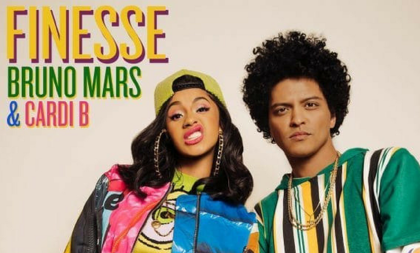 "Bruno Mars and Cardi B Link Up for ""Finesse (Remix)"""